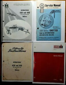 Ih International 430 440 Twine Baler Operator Knotter Setup Service Manual