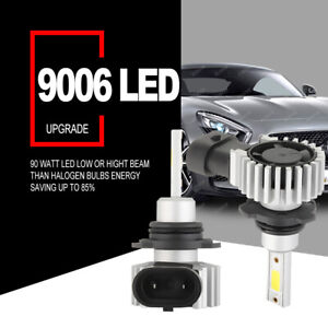 2x 9006 Hb4 Led Headlight Bulbs Kit Low Beam 6000k White 3005w 450750lm Foglight