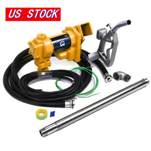 Electric 12v Pump Fuel Transfer 12 Volt Diesel Oil Gasoline Kerosene Gas Nozzle