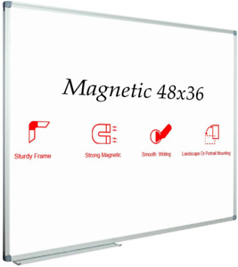 Magnetic Dry Erase Board Whiteboard White Frame Wall Hanging Office Home 48 x36