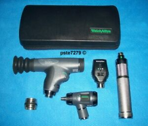 Welch Allyn 11820 Panoptic Diagnostic Set With 11720 Coaxial 23810 Macroview
