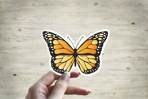Orange Monarch Butterfly Laptop Tumbler Car Vinyl Sticker