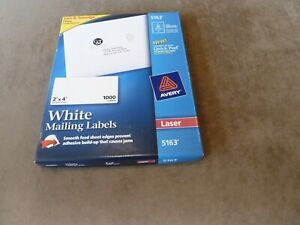 New Avery 5163 White Shipping Labels Laser Printer 2 x4 98 Sheets 980 Labels