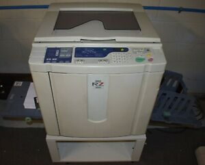 Riso Risograph Rz 220ui High Speed Digital Duplicator W 7 Drums 6cases