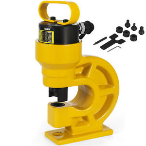 Ch 60 Hydraulic Knockout Punch 3 8 3 4 Hole Puncher 31 Ton Max 10mm Thickness