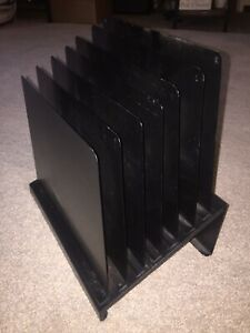 Vintage Industrial Metal 6 Tier Office Desk Sorter Letter File Paper Organizer