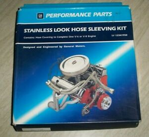 Gm Performance Parts Stainless Look Hose Sleeving Kit Braided Hose Cover