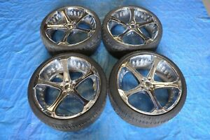 Giovanna Dalar Wheels Rims With Tires 22 Inch Chrome 5x120 Staggered Set Of 4