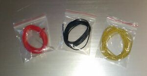 22 Gauge awg Stranded Hookup Wire Set Red black yellow 2m Each 20 Ft Kit Ul1007