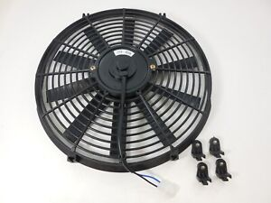 New Black 16 High Performance Reversible Electric Cooling Fan Straight Blade