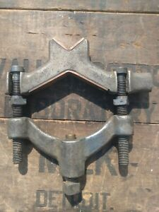 Vintage Moore Drop Forging Reversible Machinist Clamp Vise Specialty Tool Jig