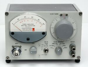 Gr General Radio 1232a Tuned Amplifier Null Detector 1232 a With Bnc Adapter