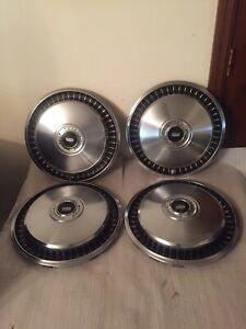 Vintage Set Of 4 1969 74 Ford 15 Hubcaps F100 F150 Truck E100 Van