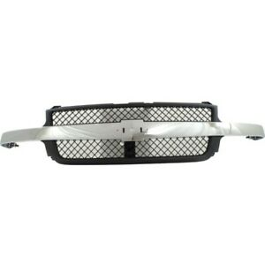 For Chevy Silverado 2500 Hd 3500 Grille Assembly 2001 2002 Painted Black Shell