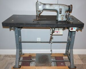 Singer Industrial Sewing Machine Model 331k1 With Consew Servo Motor