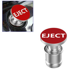 Sports Red eject Push Button Design Car Cigarette Lighter Plug Cover Universal
