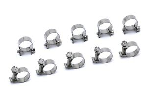 Hps Sae 17 Stainless Steel Fuel Injection Hose Clamps 10pc Pack 5 8 45 64