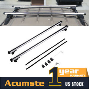 2pc 48 Universal Aluminum Car Top Roof Rack Cross Bar For Cargo Luggage Carrier