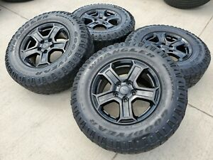 17 Jeep Wrangler Rubicon Gladiator Oem Black Wheels Rims 9216 2018 2019 2020