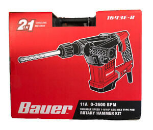Bauer Rotary Hammer Drill Sds Max type Pro Variable Speed 10 5a New