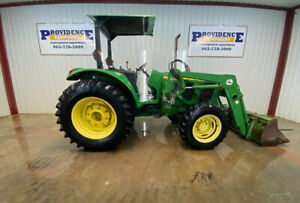 John Deere 6215 4x4 Orops With Euro Connect Hay Fork And Buket