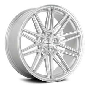 Set Of 4 Vossen Cv10 Silver With Polished Face