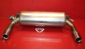 2012 2015 Bmw 335i F30 Oem Rear Dual Tip Exit Exhaust Muffler Assembly W Flap
