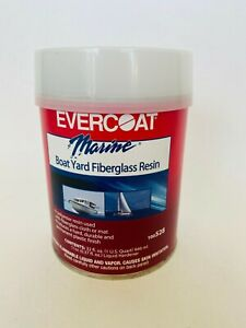 Evercoat 528 Boat Marine Boat Yard Fiberglass Resin 1 Quart Hardener Included
