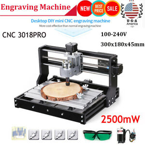 3018 Pro Diy Cnc Router 2in1 La ser Engraving Machine 2500mw With Er11 Collet