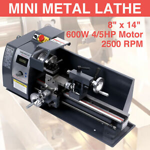 8x 14 Mini Metal Lathe Metalworking Woodworking Metal Gears Bench Metalworking