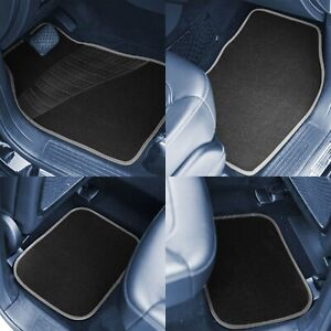 Carpet Floor Mats Full Set With Heavy Duty Rubber Heel Pad Cars Coupes Suvs