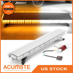 48 88 Led Emergency Warning Strobe Light Bar Flash Roof Tow Truck Amber White