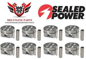 Chevy Chevrolet 350 5 7 Sbc Sealed Power Flat Top Pistons 8 1968 1995
