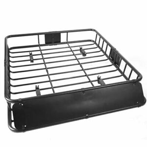 Universal 42 X 37 X 4 Roof Rack Car Top Cargo Basket Carrier 150 Lb Capacity