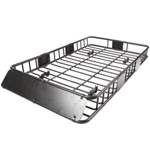 64 Universal Roof Rack Extension Cargo Car Top Luggage Carrier Basket Rack