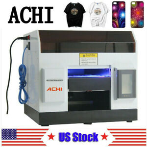 Achi Uv Printer Flatbed Printer Epson L800 Metal Phone Case Glass Sign Us Stock