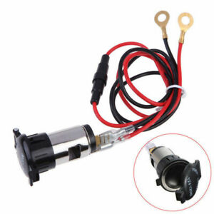 With Wire Cigarette Lighter Socket Replacement 12v Tractor 10a 2 5cm Car