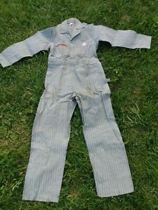 Vintage Deadstock Bib Coveralls Rail Chief Overalls Nos 40 Union Made Sanforized