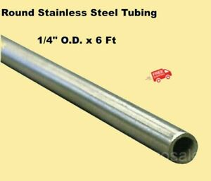 Round Tubing 304 Stainless Steel 1 4 Od X 6 Ft Welded 0 194 Inside Dia