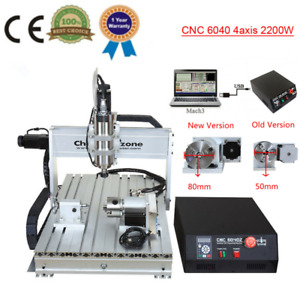 4 Axis Cnc Engraver 6040 Router Mach3 Usb Diy Cutting Milling Engraving Machine