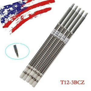 5pcs T12 3bcz Soldering Solder Iron Tip For Hakko Shape 3bcz Pcb