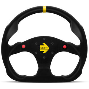 Momo Mod 30 Steering Wheel Black Suede W buttons