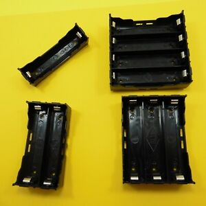 1 4 Cell 18650 Battery Holder Case Box Leads Pins Pcb Board Mount Plastic