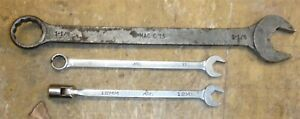 Lot Of 3 Mac Tools Wrenches C15 1 1 8 M12chlf 12mm M13clr 13mm Free Ship T01
