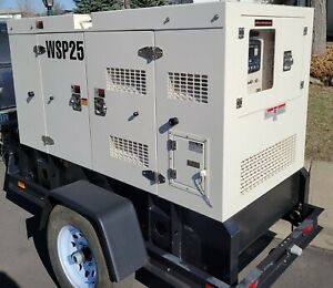 Wanco Wsp 25kw Sound Enclosed Trailer Mounted Generator new Warranty