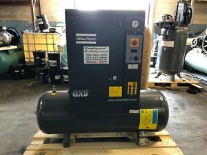 Gx5 Atlas Copco 7 5 Hp Single Phase Rotary Screw Air Compressor