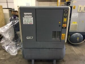10 Hp Atlas Copco Gx7 Rotary Screw Air Compressor