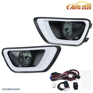 Bumper Fog Lights Driving Lamps Wiring Bubles Kit Fit 2015 2019 Chevy Colorado