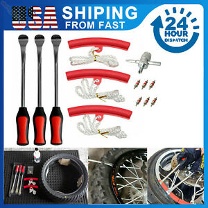 Spoon Motorcycle Tire Iron Irons Changing Rim Protector Tool Kit Combo With Case