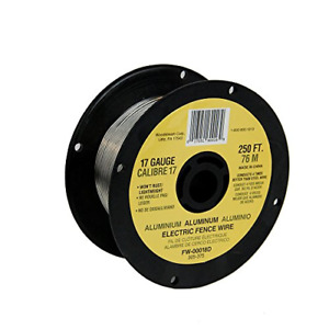 Fi shock Electric Fence Wire 250 Aluminum Fw 00018d 1 Pack 17 Gauge Spool